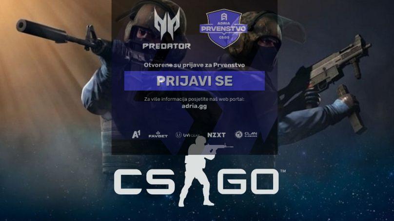 Prijavite svoj tim na CS:GO Adria Prvenstvo by Predator